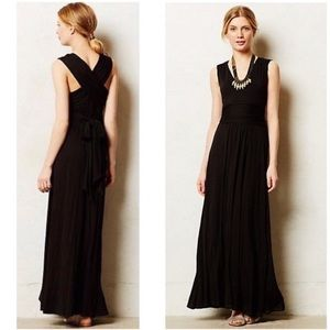 Anthro Vanessa Virginia black Capuchina maxi dress